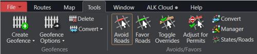 Avoid Roads in PC*MILER Tools Tab