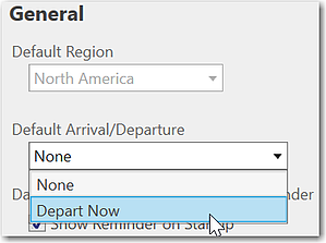 Automate departure time for real-time routing information.