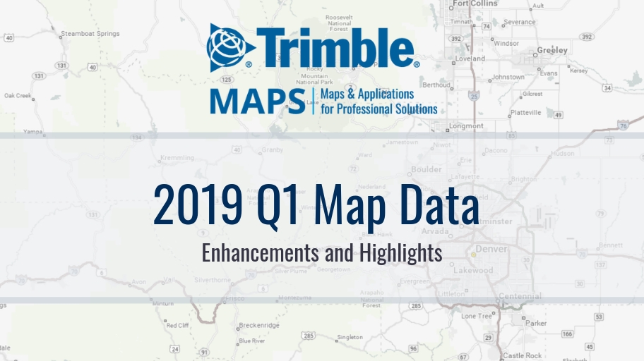 2019 Q1 North American Map Data Enhancements and Highlights