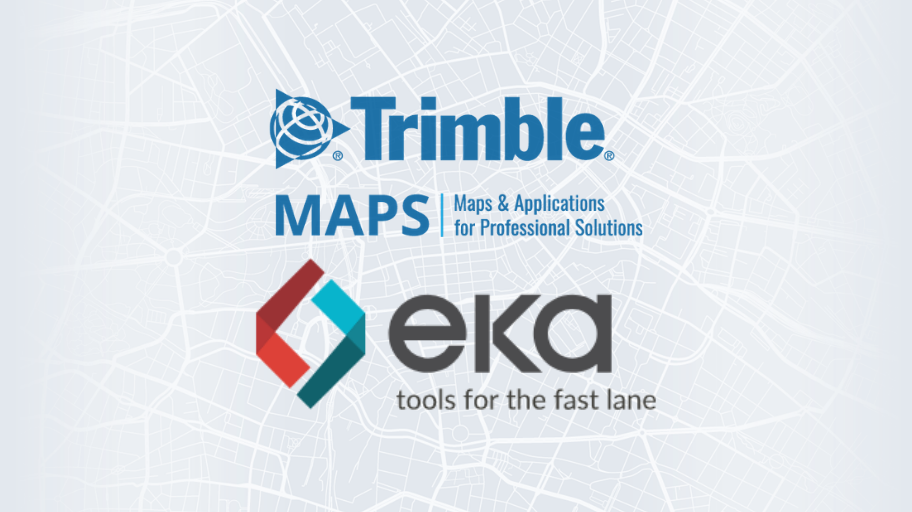 EKA Solutions Licenses Trimble's Mapping Web APIs to Deliver Enhanced ETA and Visibility Solutions