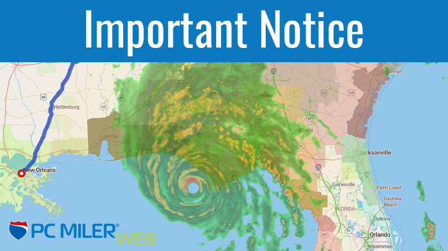 Important Notice - Hurricane Michael