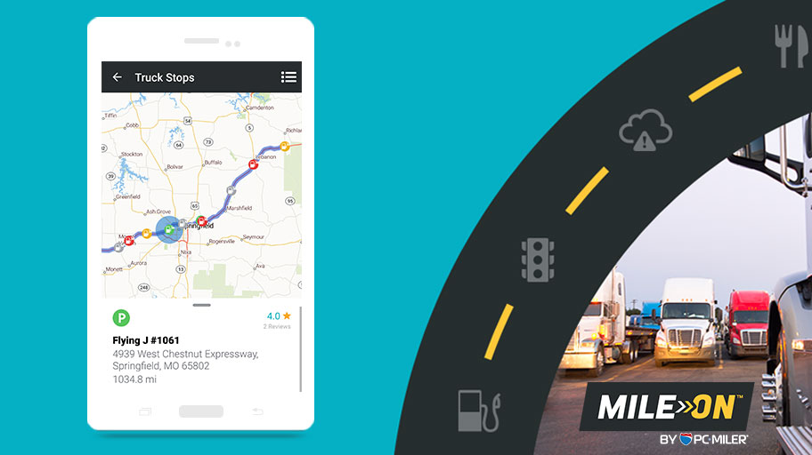 Truck Parking Made Easy with MileOn by PC*MILER