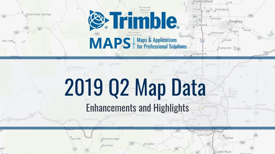 2019 Q2 North American Map Data Enhancements and Highlights